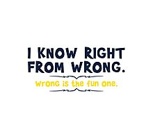 right wrong Photographic Print