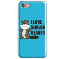 shaved beaver iPhone Case/Skin