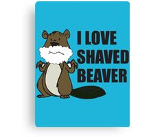 shaved beaver Canvas Print