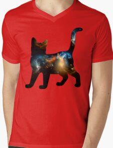 CELESTIAL CAT 3 Mens V-Neck T-Shirt