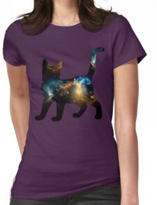 CELESTIAL CAT 3 Womens Fitted T-Shirt