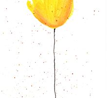 Yellow tulip watercolour by Monika Howarth