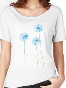 Blue flowers watercolor Women's Relaxed Fit T-Shirt