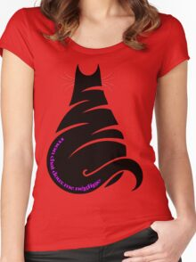 MY CAT NEGLECTS ME Women's Fitted Scoop T-Shirt