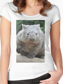 Wombat - World's Coolest Animal Women's Fitted Scoop T-Shirt