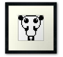 Cute pixel art panda Framed Print