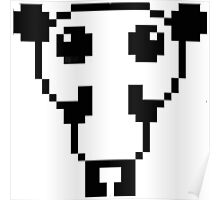 Cute pixel art panda Poster