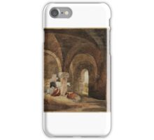 David Cox Crypt of Kirkstall Abbey (after J.M.W. Turner). Classical Landscape (after Poussin) iPhone Case/Skin