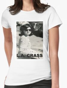 Jackie Kennedy Onassis - L.A. CRASS Womens Fitted T-Shirt