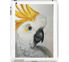Cocky! sulphur crested cockatoo watercolour iPad Case/Skin
