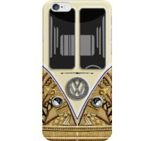 Aztec yellow minibus minivan Wagon iPhone Case/Skin