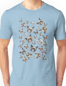 Cats in Turquoise Blue Unisex T-Shirt