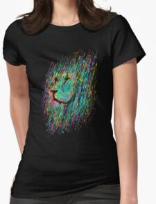 Unfinished Lion Womens Fitted T-Shirt
