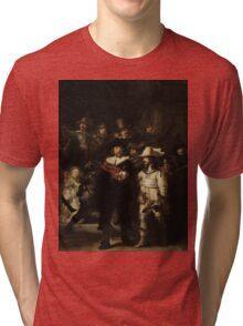 Rembrandt Harmensz van Rijn - The Night Watch  Tri-blend T-Shirt