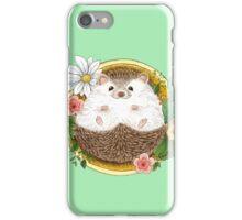 Hedgehog with cactus iPhone Case/Skin