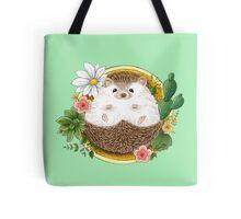 Hedgehog with cactus Tote Bag