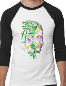 Psychedelic face Men's Baseball ¾ T-Shirt