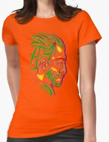Psychedelic face Womens Fitted T-Shirt