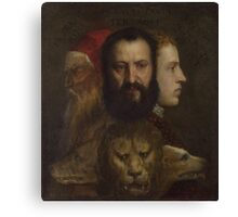 Tiziano Vecellio, Titian - An Allegory of Prudence Canvas Print