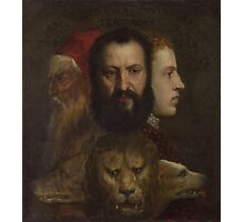 Tiziano Vecellio, Titian - An Allegory of Prudence Photographic Print