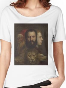 Tiziano Vecellio, Titian - An Allegory of Prudence Women's Relaxed Fit T-Shirt