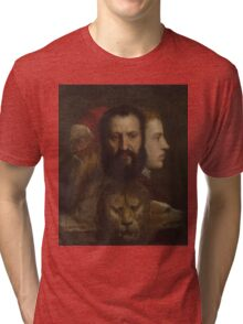 Tiziano Vecellio, Titian - An Allegory of Prudence Tri-blend T-Shirt