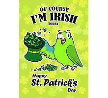 St. Patrick's day parrot Photographic Print