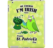 St. Patrick's day parrot iPad Case/Skin