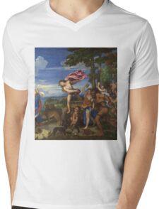 Tiziano Vecellio, Titian - Bacchus and Ariadne  Mens V-Neck T-Shirt