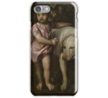 Tiziano Vecellio, Titian - Boy with Dogs in a Landscape iPhone Case/Skin