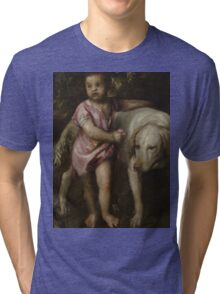 Tiziano Vecellio, Titian - Boy with Dogs in a Landscape Tri-blend T-Shirt