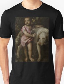 Tiziano Vecellio, Titian - Boy with Dogs in a Landscape Unisex T-Shirt