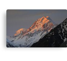 In the Hall of the Mountain King- Aoraki at Sunset Canvas Print