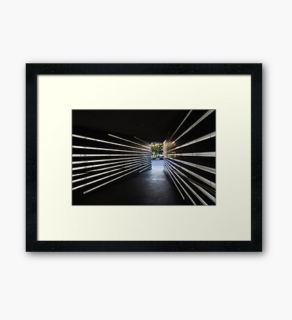 A Moving Remembrance - the Irish Hunger Memorial in Manhattan, New York City, USA Framed Print