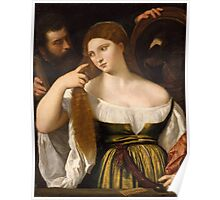 Tiziano Vecellio, Titian - Girl Before the Mirror After 1515 Poster