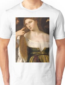 Tiziano Vecellio, Titian - Girl Before the Mirror Unisex T-Shirt
