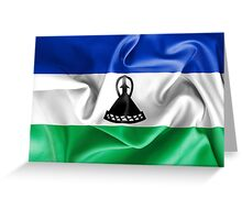 Lesotho Flag Greeting Card
