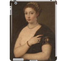 Tiziano Vecellio, Titian - Girl in a Fur iPad Case/Skin