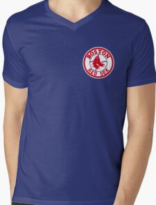 Boston Red Sox Logo Baseball Mens V-Neck T-Shirt