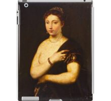 Tiziano Vecellio, Titian - Girl in a Fur Coat 16th century iPad Case/Skin