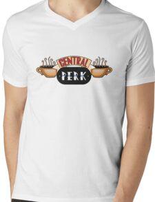 Friends - Central Perk Chrome Logo Mens V-Neck T-Shirt