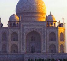 The Taj Mahal catches the sun at sunrise Sticker