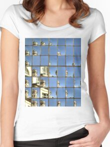 St James' Church Window Reflection Women's Fitted Scoop T-Shirt