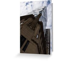 Looking Up - the Famous Hearst Tower in Midtown Manhattan, New York City, USA Greeting Card
