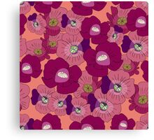 Poppy Rush Canvas Print