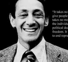 "Harvey Milk - ""Rights"" Quote Sticker"