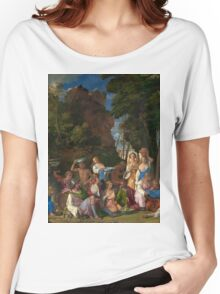 Tiziano Vecellio, Titian - The Feast of the Gods  Women's Relaxed Fit T-Shirt