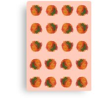 peach splash Canvas Print