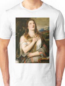 Tiziano Vecellio, Titian - The Penitent Magdalene  Unisex T-Shirt