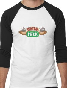 Friends - Central Perk White Variant Men's Baseball ¾ T-Shirt